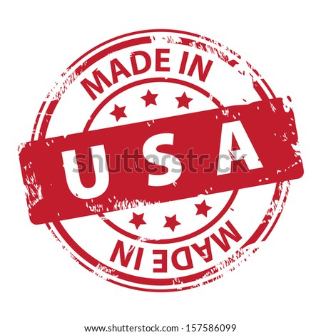 Rubber stamp with text Made in USA icon isolated on white background. Vector illustration - stock vector