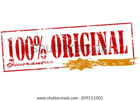 Rubber stamp with text one hundred percent original inside, vector illustration - stock vector