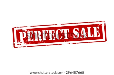 Rubber stamp with text perfect sale inside, vector illustration