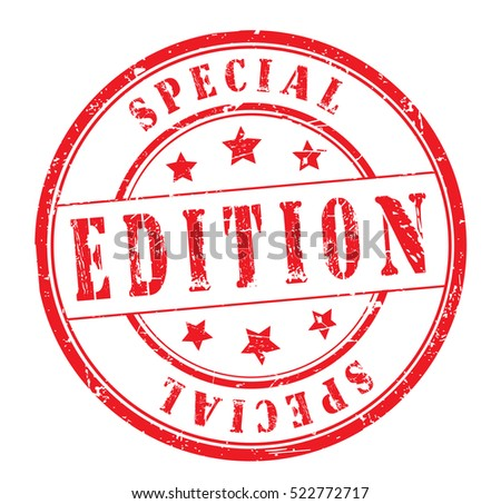 Rubber Stamp Text Special Edition On Stock Photo Photo Vector