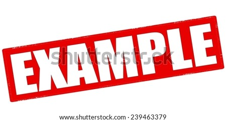 Rubber stamp with word example inside, vector illustration - stock vector