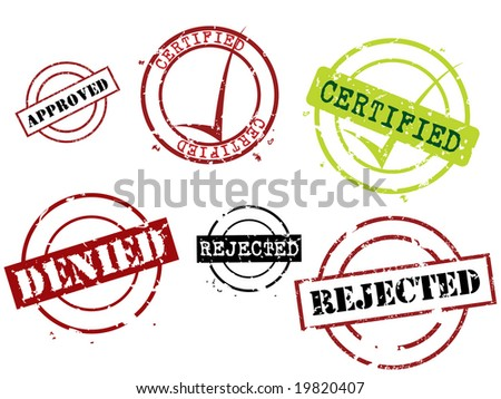 Rubber stamps series - stock vector