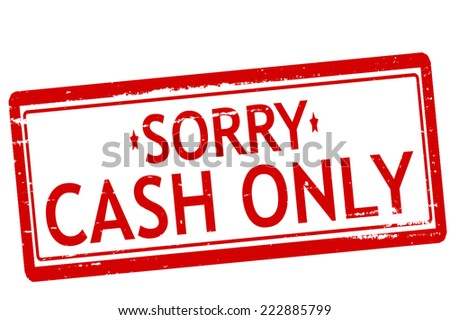 Rubber stamps with text cash only inside, vector illustration