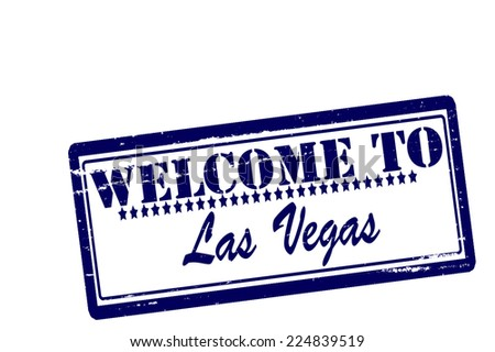 Rubber stamps with text welcome to Las Vegas inside, vector illustration