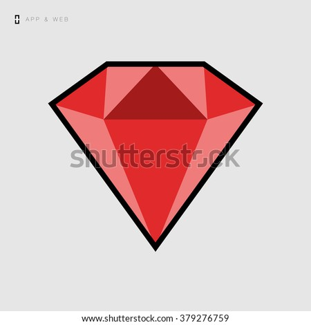 Ruby diamond icon / vector icon for web and mobile applications
