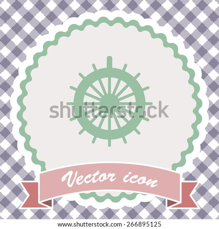 rudder vector icon