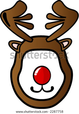 Rudolph the Reindeer mask