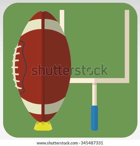 Rugby field - stock vector