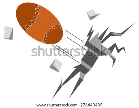 rugby football - stock vector