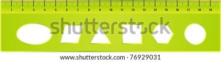 Ruler - stock vector