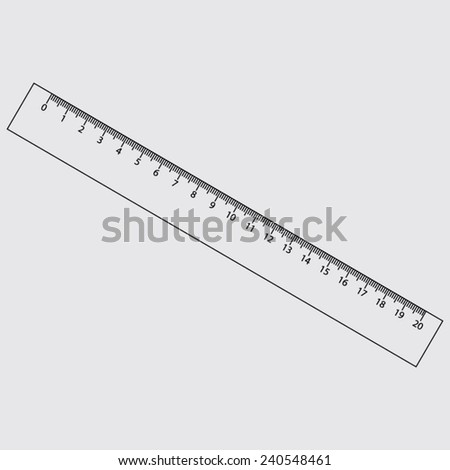 Ruler Icon on a grey background