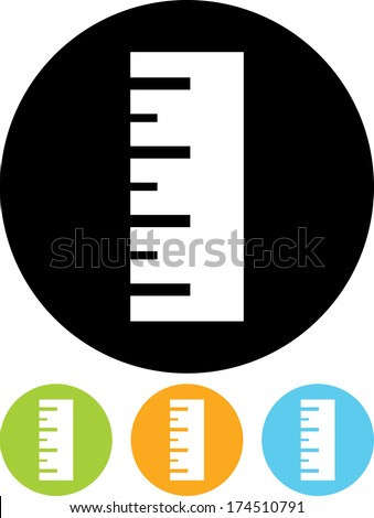 Ruler vector icon - stock vector