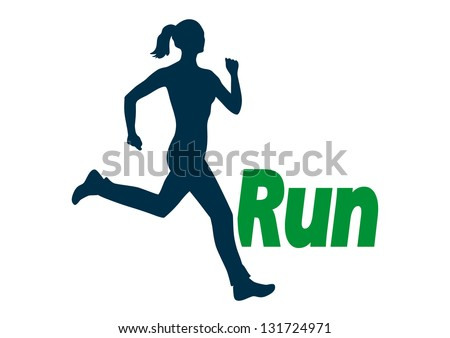 Run, vector illustration - stock vector