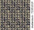 rune seamles background in grey - stock vector