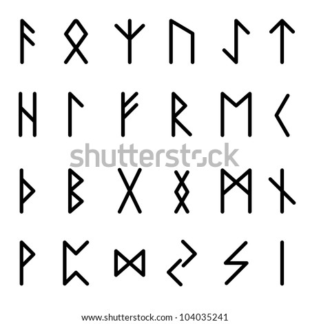 Runes. Illustration on white background for design - stock vector