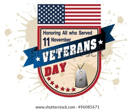 runge rubber stamp with the text Veterans Day written inside, vector illustration