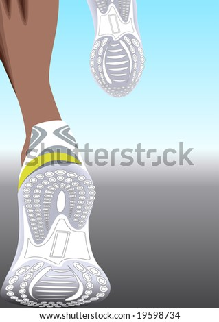 running (all of the legs are available under a clipping mask) - stock vector