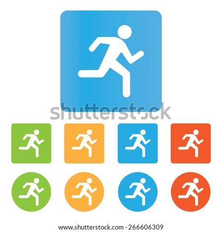 Running icon  - stock vector