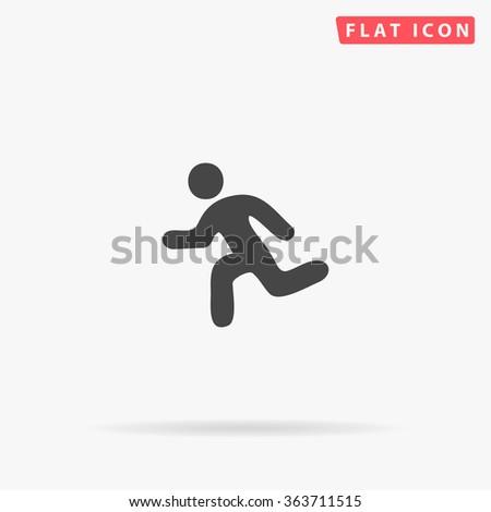 Running Icon Vector.  - stock vector