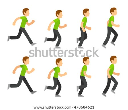 Running Man Animation 8 Frame Sequence Stock Photo (Photo, Vector ...
