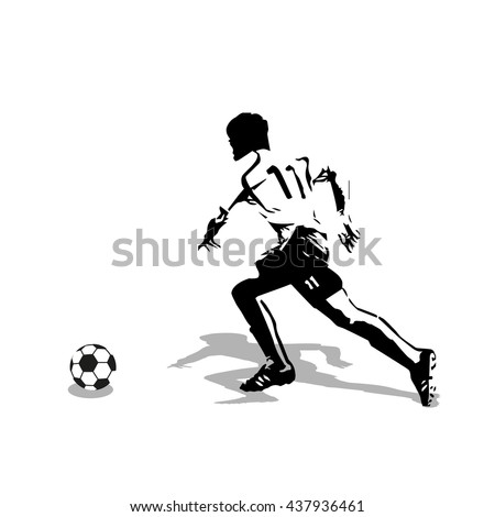 how to draw a football player running