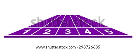 Running track in purple design - stock vector