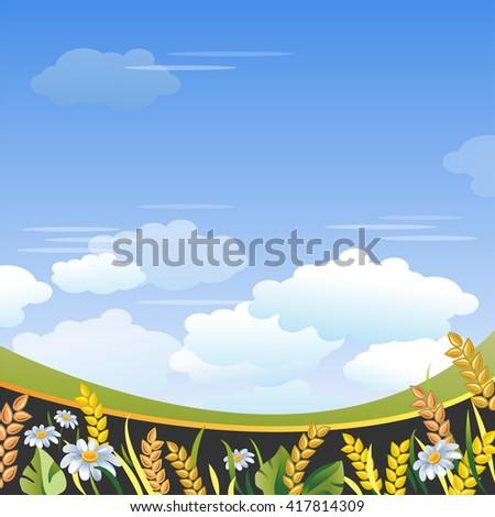 Rural Landscape.  - stock vector