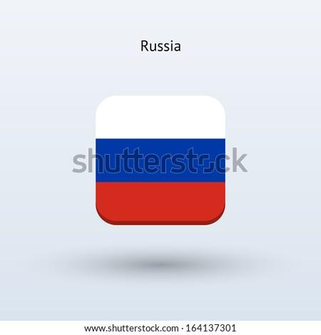 Russia flag icon. Vector illustration. - stock vector