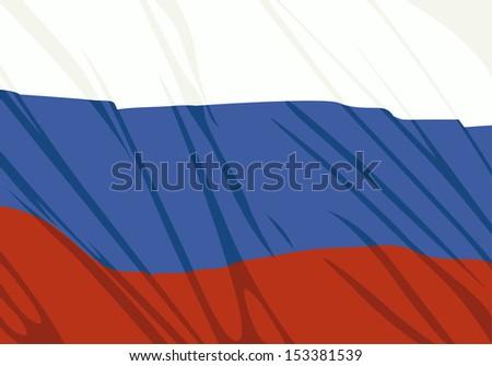 Russia waving flag - stock vector