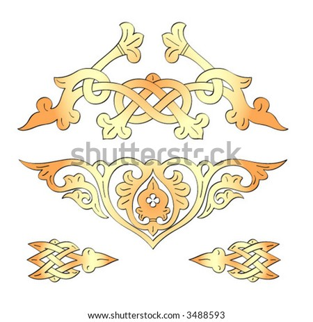Russian age-old traditional ornament (vector)