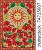 Russian art postcard - stock vector