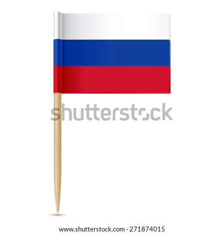 Russian flag toothpick - stock vector
