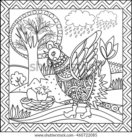 russian folk art coloring pages - photo#4