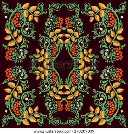 Russian folk pattern. Vignette. Doodle. Natural ornament. - stock vector