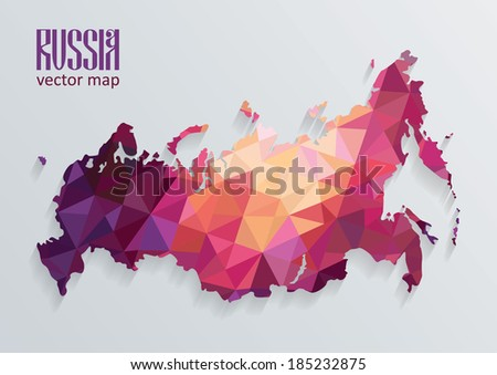 Russian map - stock vector
