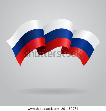 Russian waving Flag. Vector illustration Eps 8. - stock vector