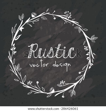 Rustic design over black grunge background, vector illustration - stock vector
