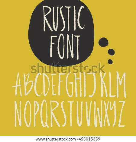 Rustic font - unique handdrawn alphabet. Latin letters drawn by brush. Vector ABC with real texture - letters isolated and easy to use for your lettering design. - stock vector