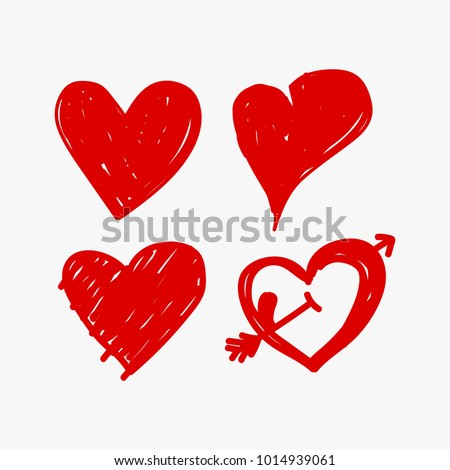 Rustic Heart Vector Collection Love Valentine
