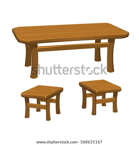 Rustic Medieval Table With Chairs
