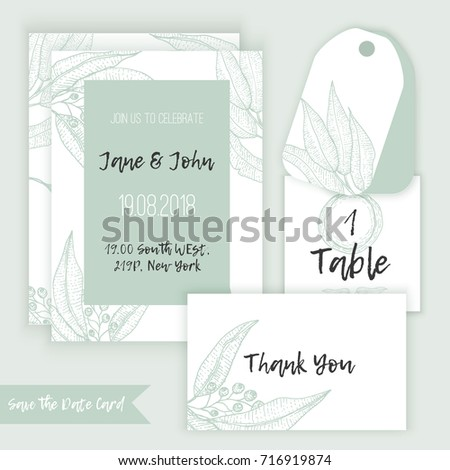Rustic wedding decoration template decorate eucalyptus stock vector rustic wedding decoration template decorate eucalyptus stock vector 716919874 shutterstock junglespirit Choice Image