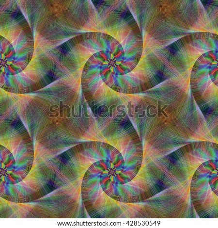 Rusty seamless abstract computer generated fractal design pattern - stock vector