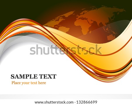 Rusty world map template - stock vector