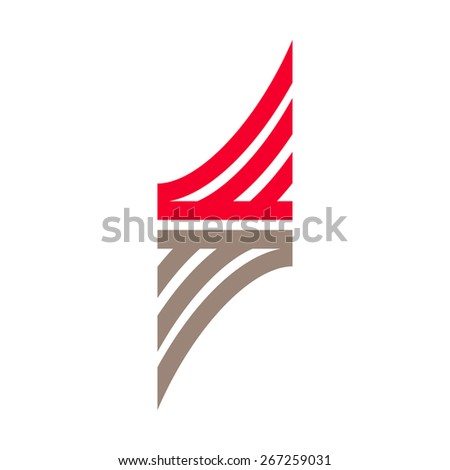S letter line logo, vector design template element - stock vector