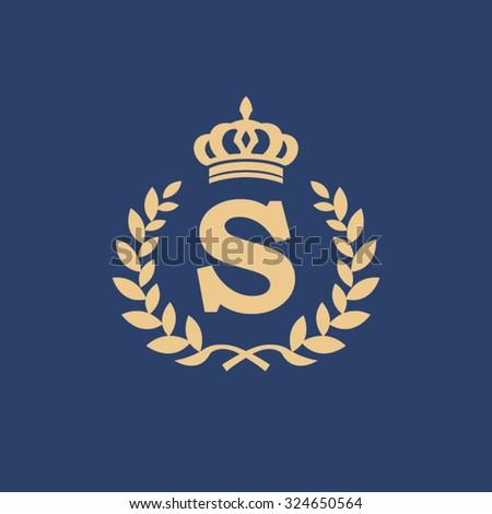 s letter wreath logo stock vector 324650564 shutterstock
