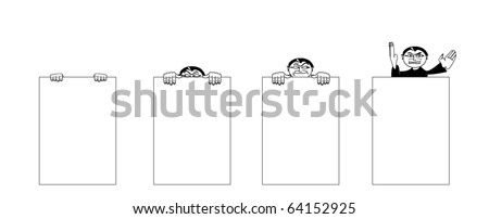 saboteur in spy action illustration - stock vector