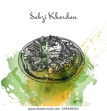 Hand Drawn Green Cauldron Sketch Irish Stock Vector