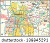 Sacramento, California area map - stock vector