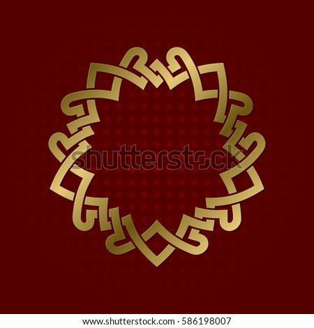Sacred Geometric Symbol Five Pointed Plexus Stock Vector 586198007