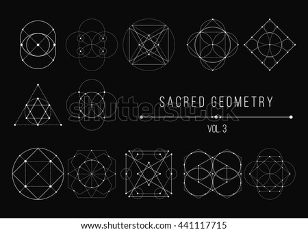 Sacred Geometry Bundle. Vector Illustration - stock vector